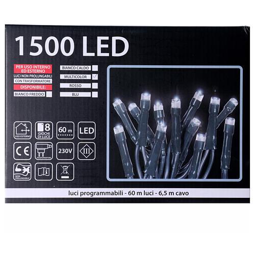 Luci Natalizie 1500 LED  multicolor programmabile ESTERNO INTERNO corrente 5