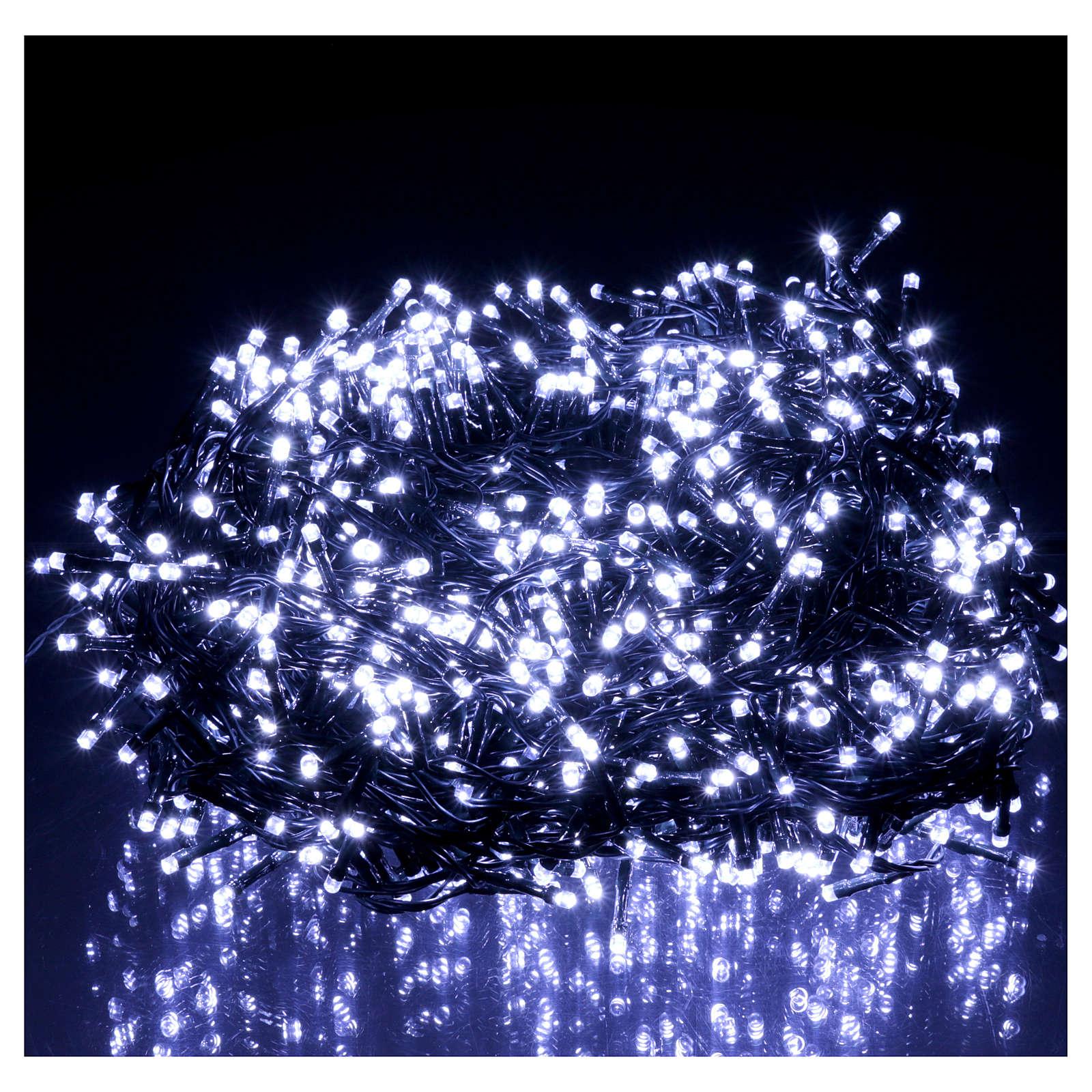 Catena di Natale 1500 LED  bianco freddo programmabile ESTERNO INTERNO corrente 3