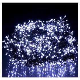 Catena di Natale 1500 LED  bianco freddo programmabile ESTERNO INTERNO corrente s2