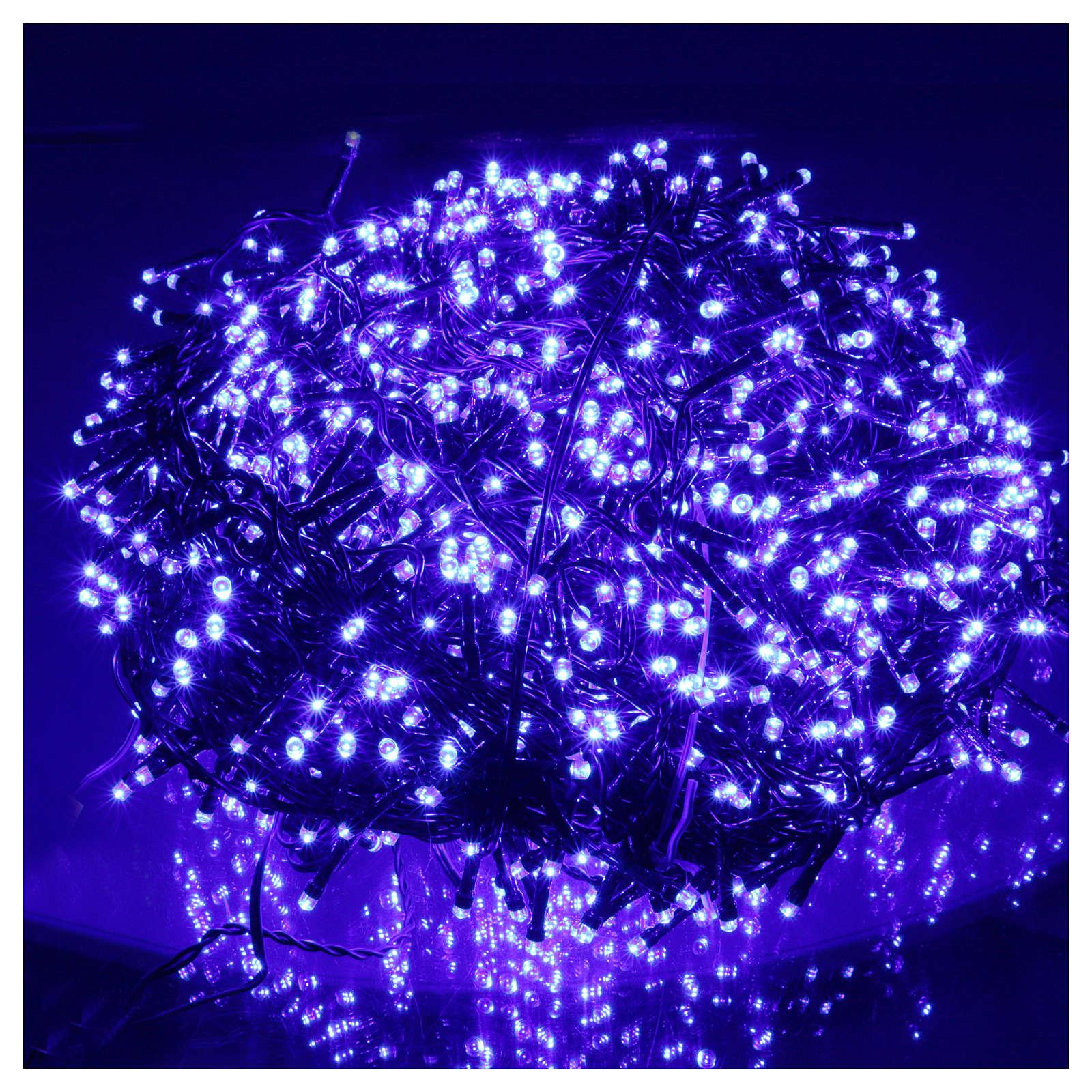 Luci Natalizie 1500 LED blu programmabile ESTERNO INTERNO corrente 3