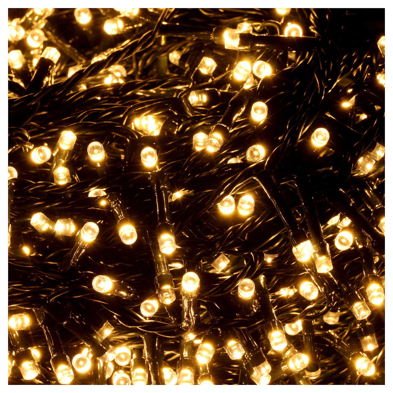 cc0e746e30e Cadena luces de Navidad 1500 LED blanco cálido programable EXTERIOR  INTERIOR corriente 3