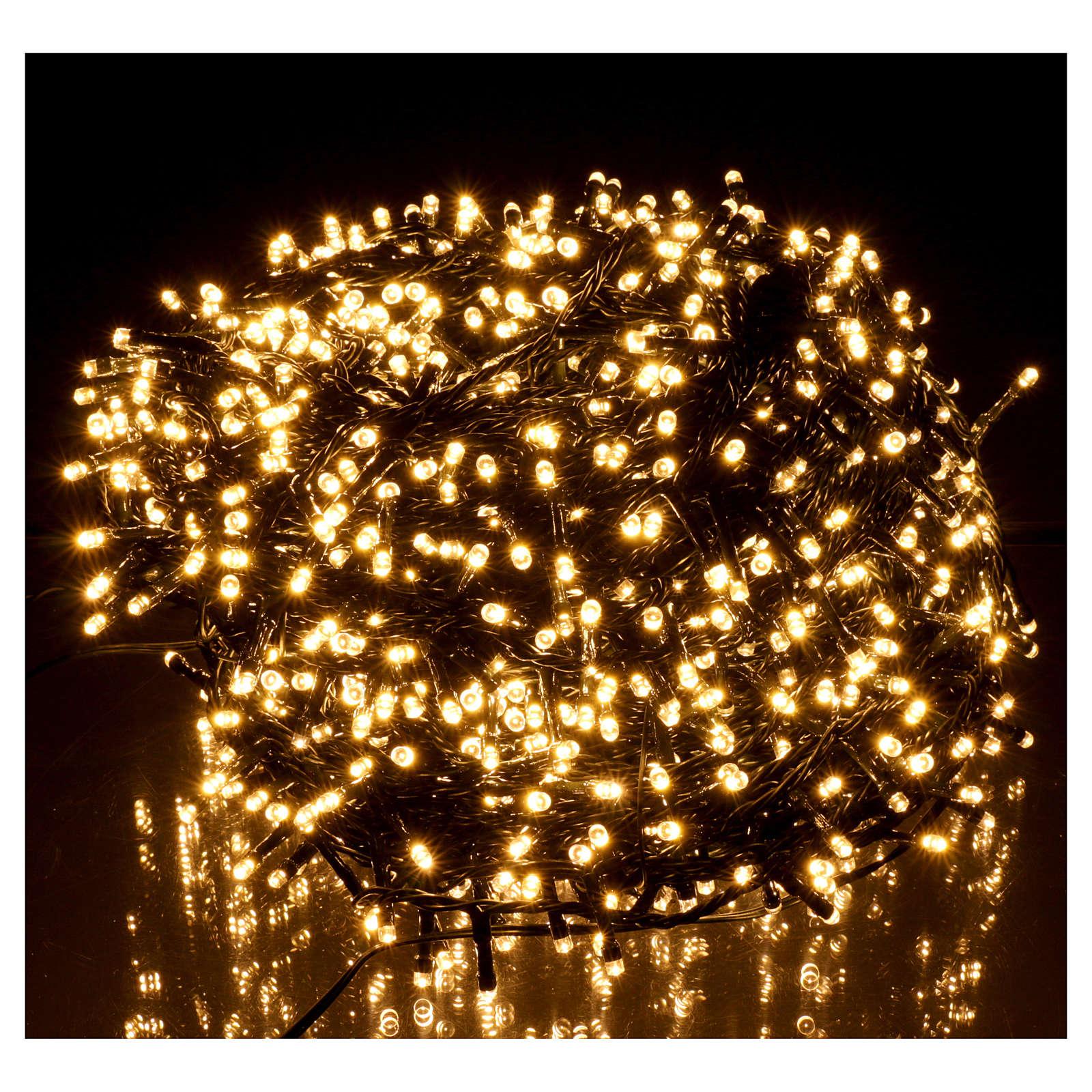 Catena luci di Natale 1500 LED bianco caldo programmabile ESTERNO INTERNO corrente 3