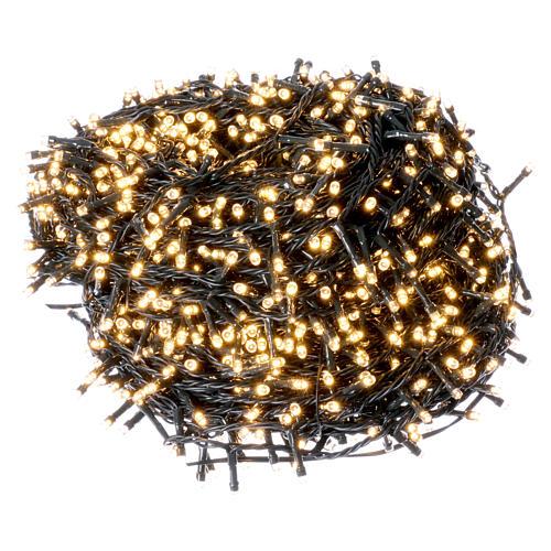 Catena luci di Natale 1500 LED bianco caldo programmabile ESTERNO INTERNO corrente 1