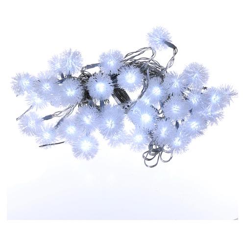 Luci Natalizie fiocco di neve 40 LED  bianco freddo programmabili corrente 1