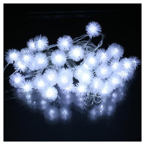 Luci Natalizie fiocco di neve 40 LED  bianco freddo programmabili corrente 2