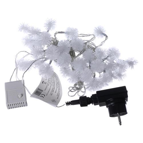 Luci Natalizie fiocco di neve 40 LED  bianco freddo programmabili corrente 4