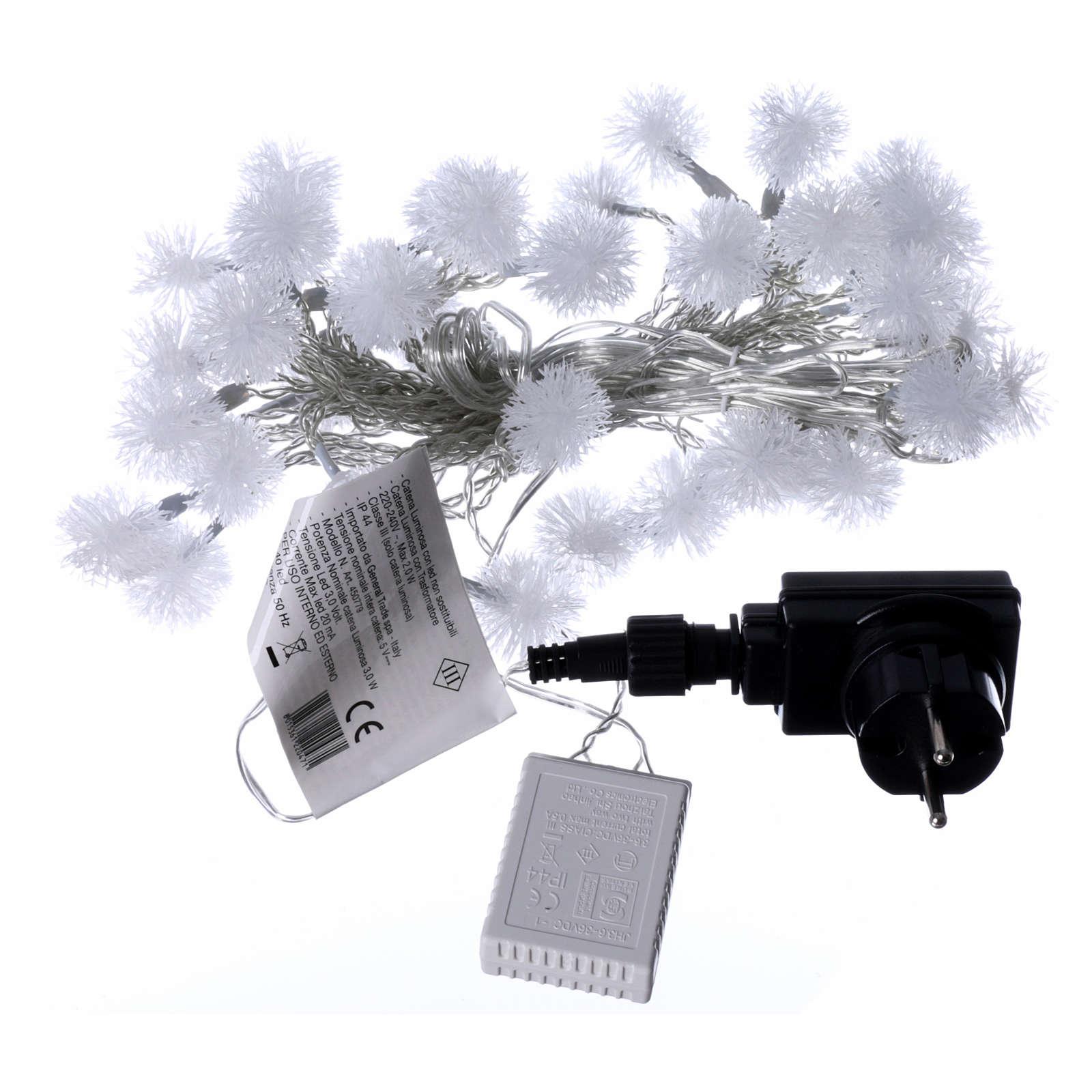 Luci fiocco di neve 40 LED  bianco caldo programmabili corrente 3