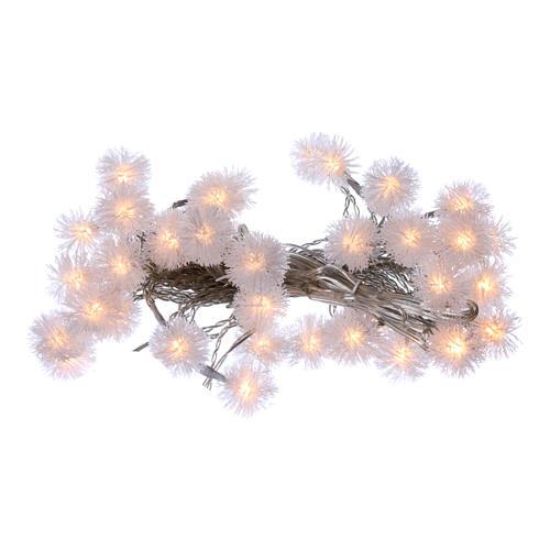 Luci fiocco di neve 40 LED  bianco caldo programmabili corrente 1