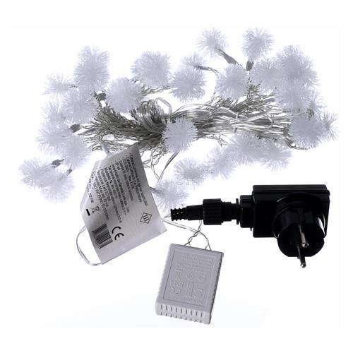 Luci fiocco di neve 40 LED  bianco caldo programmabili corrente 4