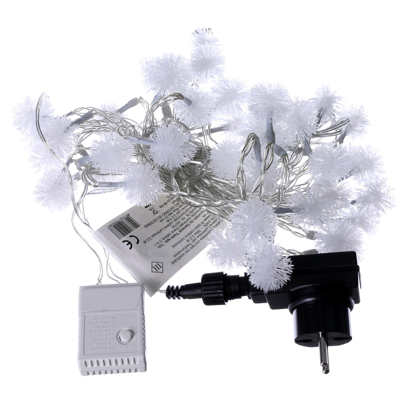 Cadena de Navidad copo de nieve 40 LED multicolor programables corriente 3