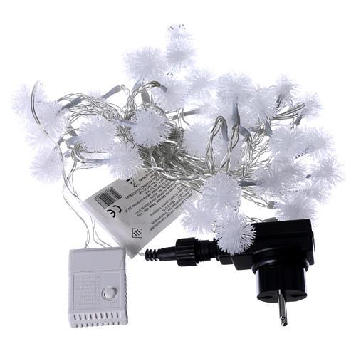 Cadena de Navidad copo de nieve 40 LED multicolor programables corriente 4