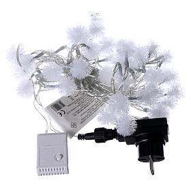 Catena di Natale fiocco di neve 40 LED  multicolor programmabili corrente s4