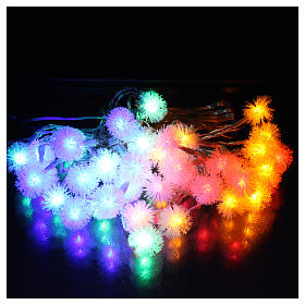 Christmas cable snow flakes 40 LEDS multicoloured programmable with electric power s2