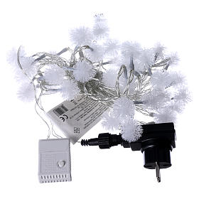 Christmas cable snow flakes 40 LEDS multicoloured programmable with electric power s4