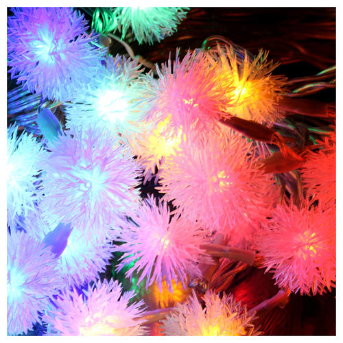 Christmas cable snow flakes 40 LEDS multicoloured programmable with electric power 3