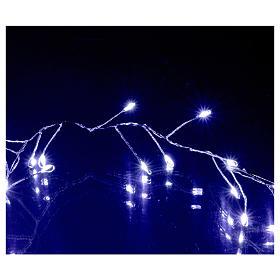 Ghirlanda  luminosa 100 micro LED bianco freddo INTERNO corrente s4