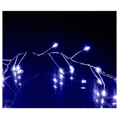 Ghirlanda  luminosa 100 micro LED bianco freddo INTERNO corrente 4