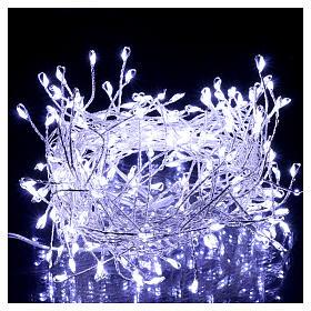 Catena luminosa ghirlanda 200 micro LED bianco freddo INTERNO corrente s2