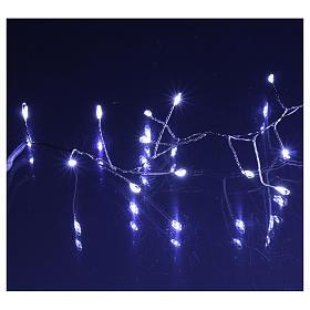 Catena luminosa ghirlanda 200 micro LED bianco freddo INTERNO corrente s4