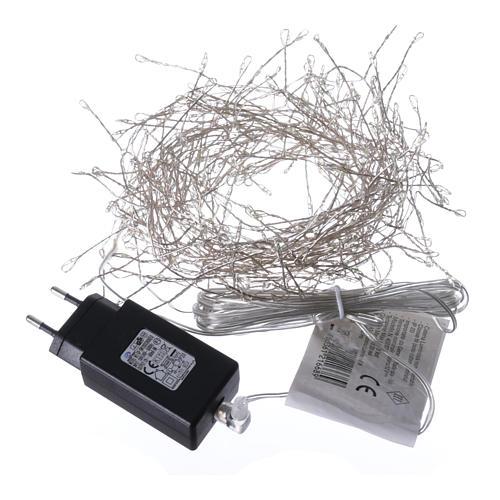 Luci Natalizie ghirlanda 300 micro LED bianco freddo INTERNO corrente 5