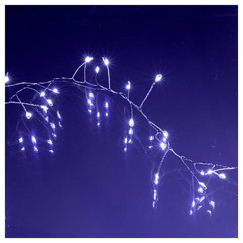 Illuminated garland 300 micro LEDs cold white for internal use electric power 4