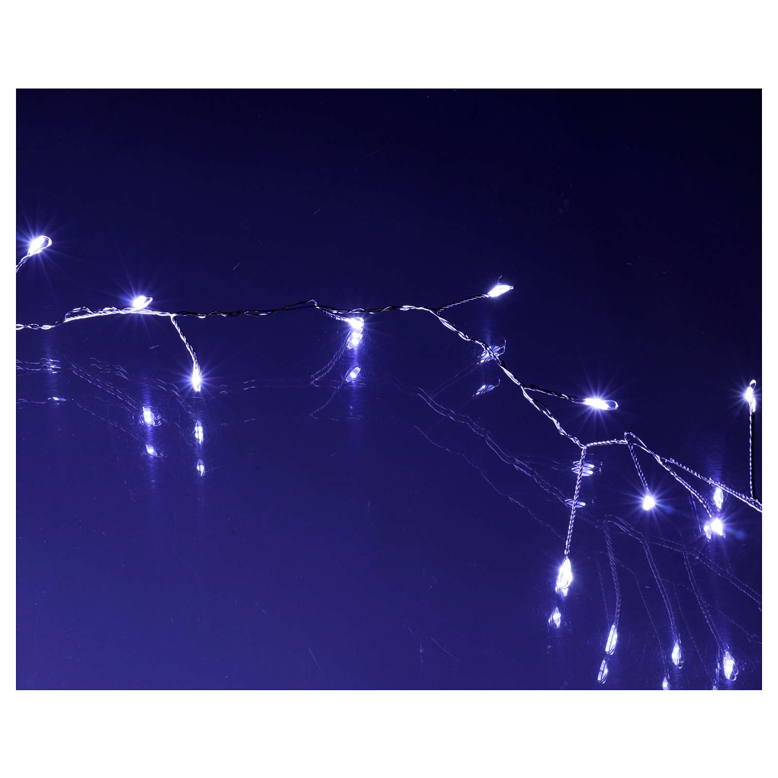 Catena ghirlanda 500 micro LED bianco freddo INTERNO corrente 3