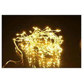 Catena luminosa ghirlanda 100 micro LED bianco caldo INTERNO corrente s5