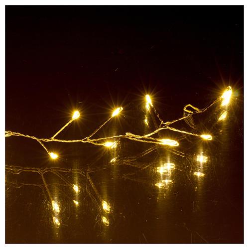 Catena luminosa ghirlanda 100 micro LED bianco caldo INTERNO corrente 4