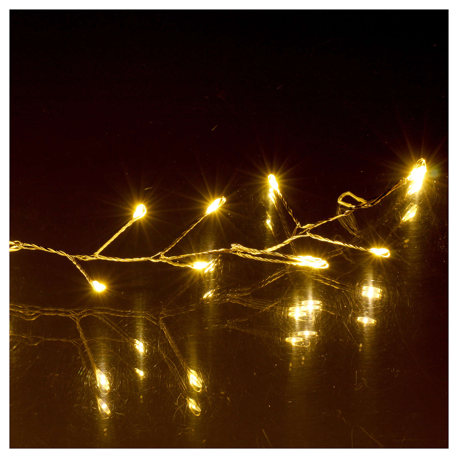 Illuminated Garland 100 Micro LEDs Cold White For Internal Use Electric  Power 3
