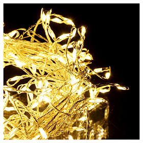 Christmas garland 200 micro LEDs warm white for internal use electric power s3