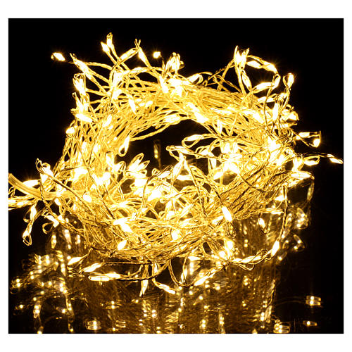 Christmas garland 200 micro LEDs warm white for internal use electric power 2