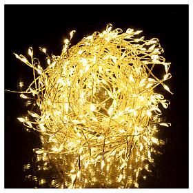 Ghirlanda luminosa 300 micro LED bianco caldo INTERNO corrente s2