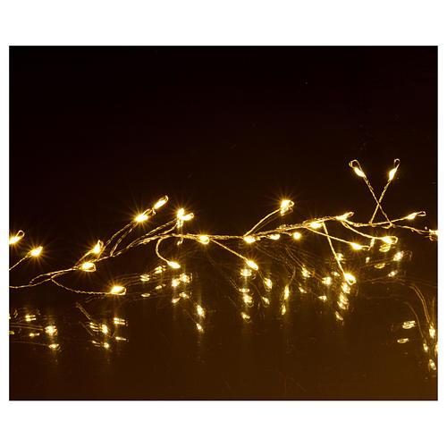 Ghirlanda luminosa 300 micro LED bianco caldo INTERNO corrente 4