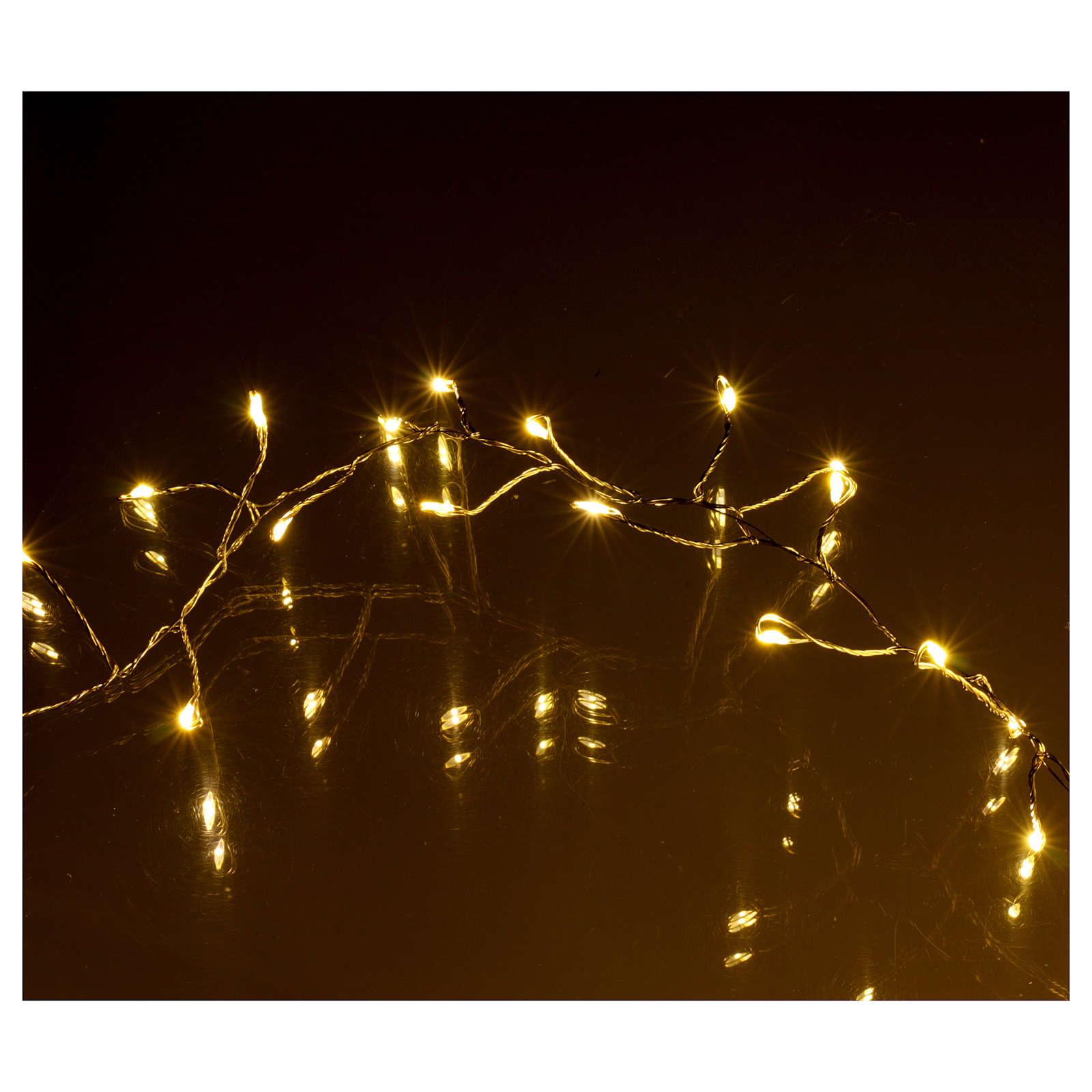 Luci Natalizie ghirlanda 400 micro LED bianco caldo INTERNO corrente 3