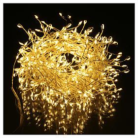 Luci Natalizie ghirlanda 400 micro LED bianco caldo INTERNO corrente s2