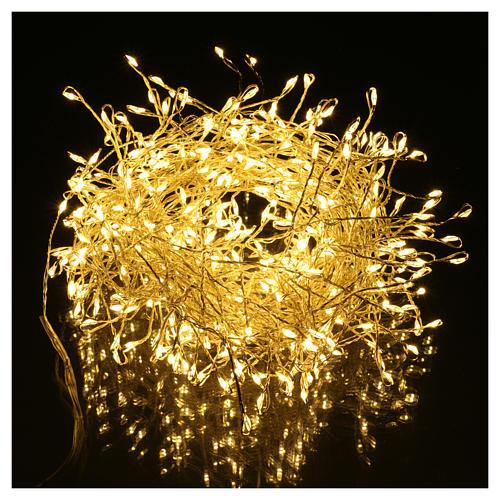 Luci Natalizie ghirlanda 400 micro LED bianco caldo INTERNO corrente 2