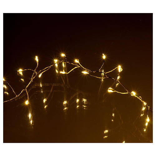 Luci Natalizie ghirlanda 400 micro LED bianco caldo INTERNO corrente 4