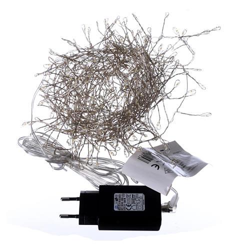 Luci Natalizie ghirlanda 400 micro LED bianco caldo INTERNO corrente 5