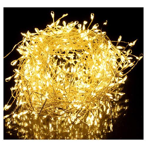 Luci di Natale ghirlanda 500 micro LED bianco caldo INTERNO corrente 2
