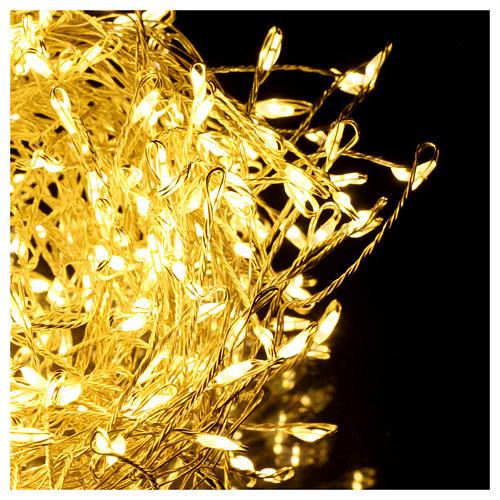 Luci di Natale ghirlanda 500 micro LED bianco caldo INTERNO corrente 3