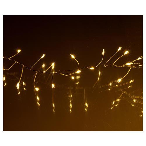Luci di Natale ghirlanda 500 micro LED bianco caldo INTERNO corrente 4