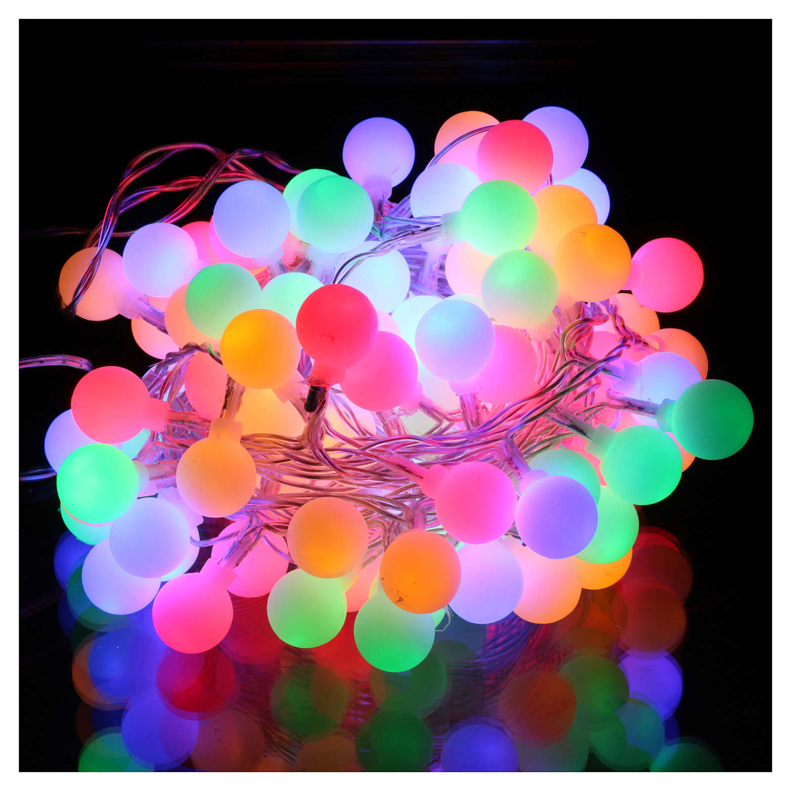 Catena luci sfere opache 100 LED Multicolor interno esterno 3