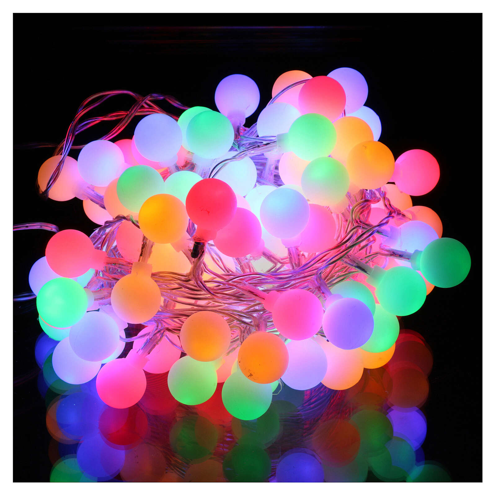 Light cable with opaque spheres 100 multicolored leds internal and external use 3