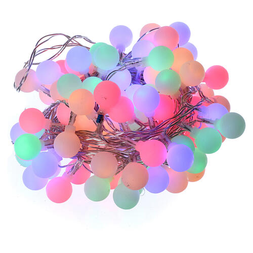 Light cable with opaque spheres 100 multicolored leds internal and external use 2