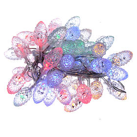Christmas light pine cones 40 multicoloured leds internal and external use s1