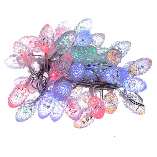 Christmas light pine cones 40 multicoloured leds internal and external use 1