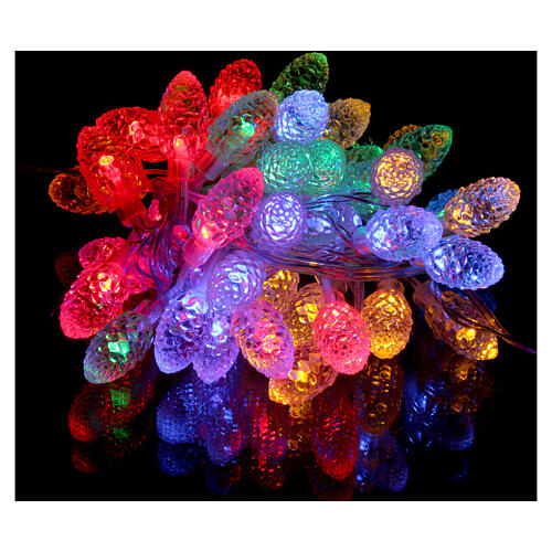 Christmas light pine cones 40 multicoloured leds internal and external use 2