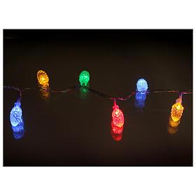 Luce natalizia Pigne 40 led multicolor interno esterno s3