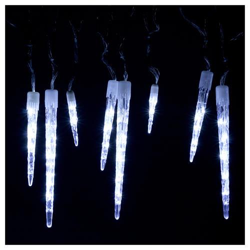 Cadena 15 polos 70 led hielo interior exterior 2