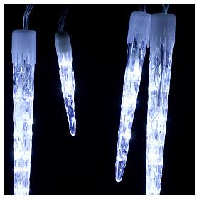 Catena 15 ghiaccioli 70 led ghiaccio interno esterno s3